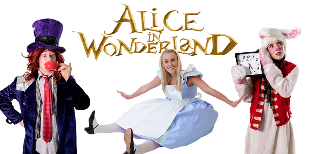 Image of Alice in Wonderland kids party entertainers in Sydney from Superheroes Inc