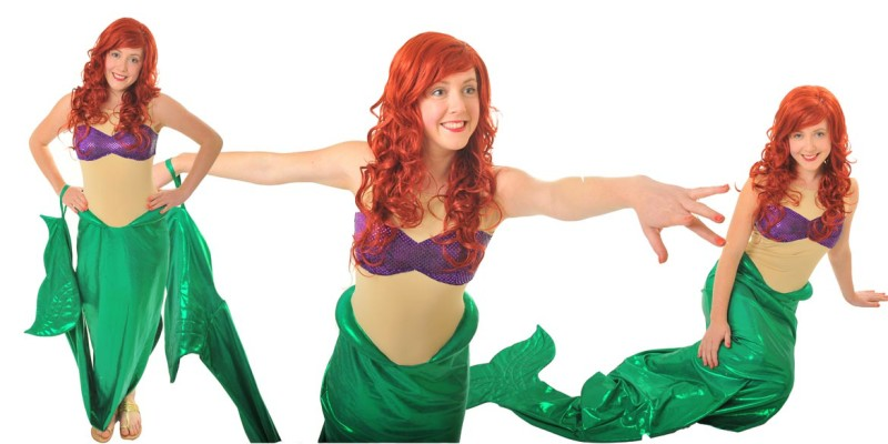 Picture of Ariel party entertainer at The Little Mermaid birthday party in Sydney