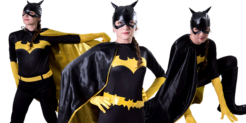 Image of Batgirl kids party entertainer in Sydney from Superheroes Inc