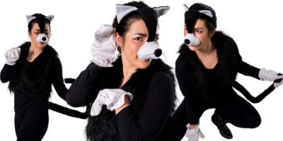 Image of black cat kids party entertainer in Sydney from Superheroes Inc
