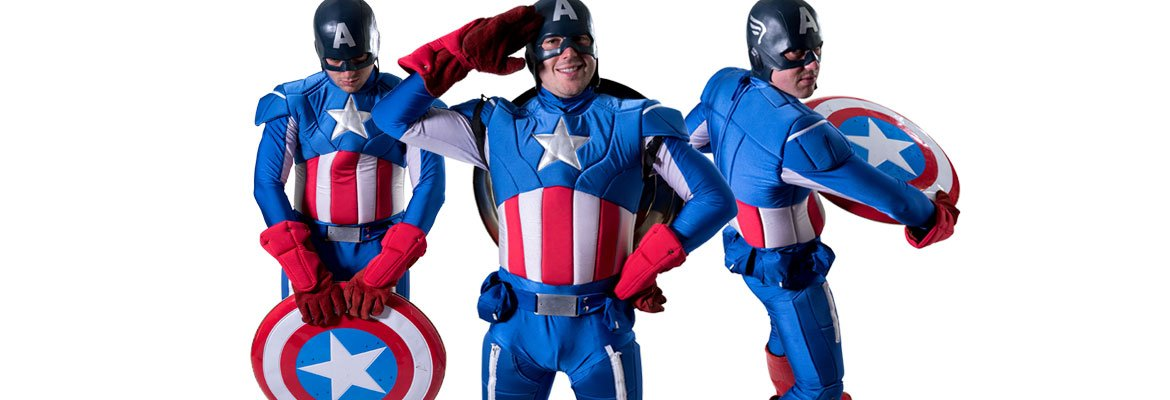 Image of Captain America birthday party entertainer in Sydney from Superheroes Inc