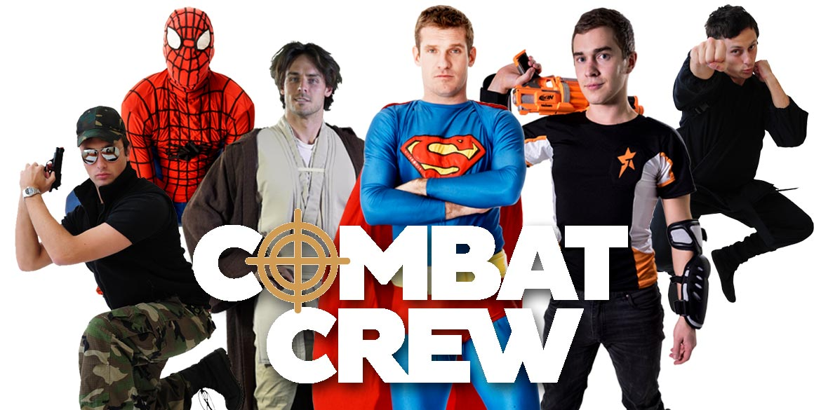 Combat Crew NERF Party Kids party entertainers Sydney Superheroes Inc