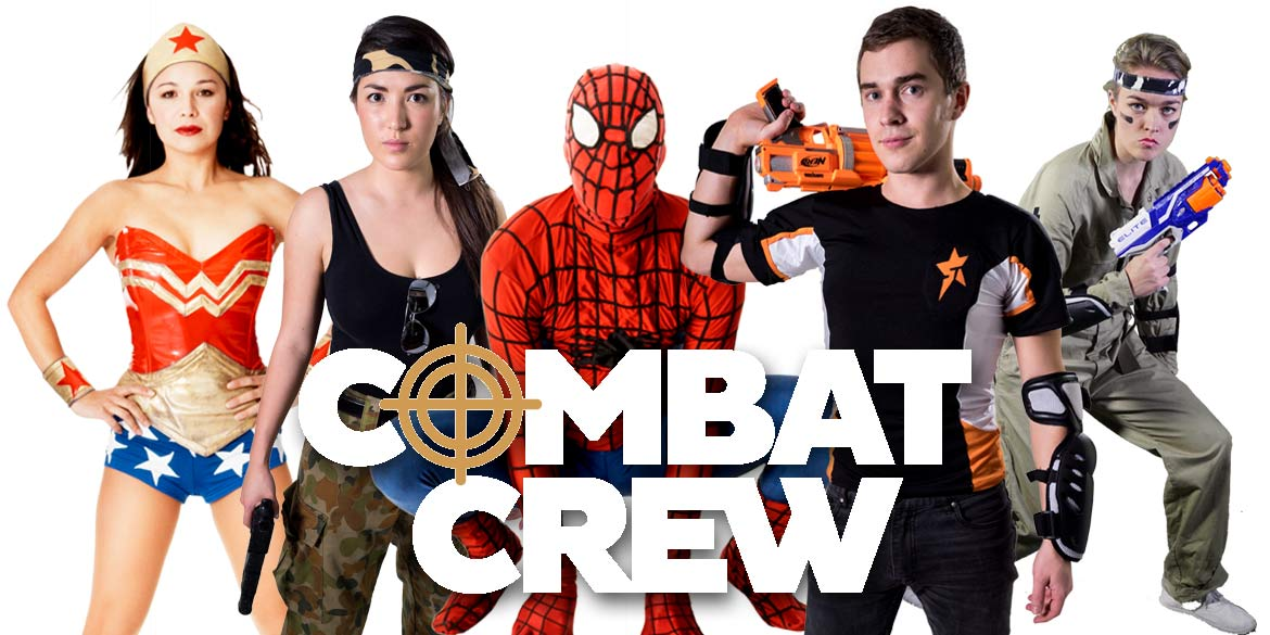 Combat Crew NERF War Party Kids party entertainers Sydney Superheroes Inc