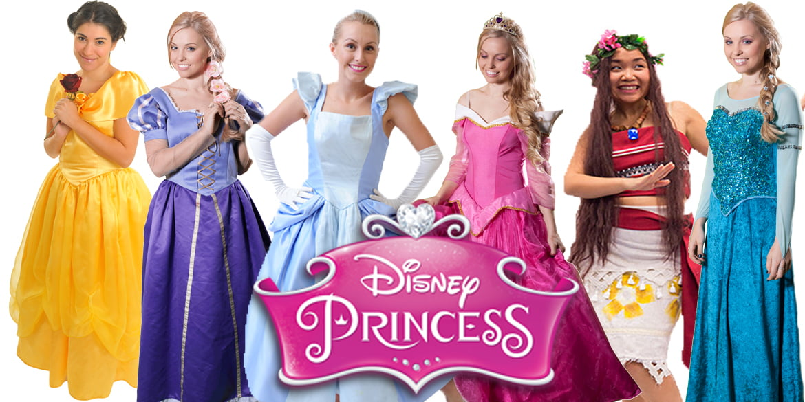 Image of princess kids party entertainment characters available in Sydney from Superheroes Inc