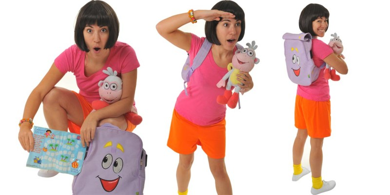 Image of Dora the Explorer birthday party entertainer in Sydney from Superheroes Inc