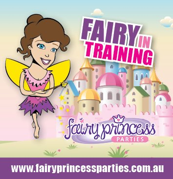 Fairy birthday party sticker