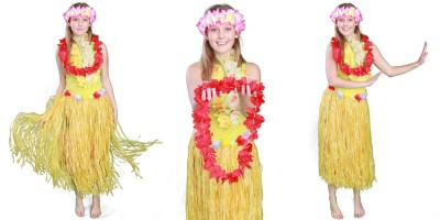 Image of hula girl beach birthday party entertainer in Sydney from Superheroes Inc