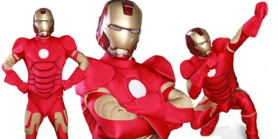 Picture of the Iron Man birthday party Entertainer from Superheroes Inc in Sydney