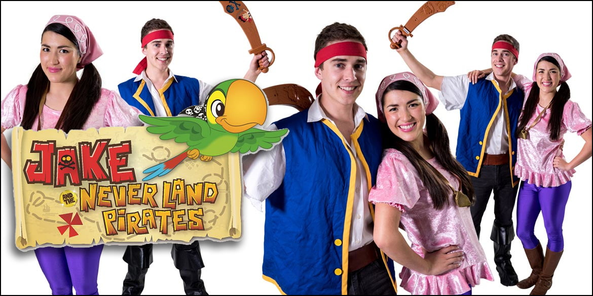 Image of Jake and the Neverland Pirates birthday party entertainers in Sydney from Superheroes Inc.
