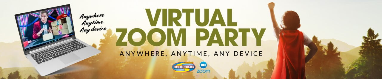 Kids Party Entertainment Sydney Zoom Virtual Event Superheroes Inc