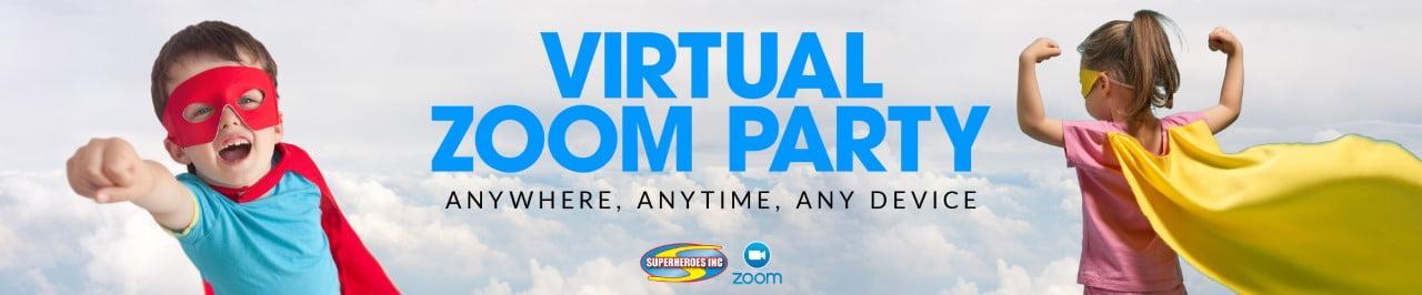 Kids Party Entertainment Sydney Zoom Virtual Event Superheroes Inc