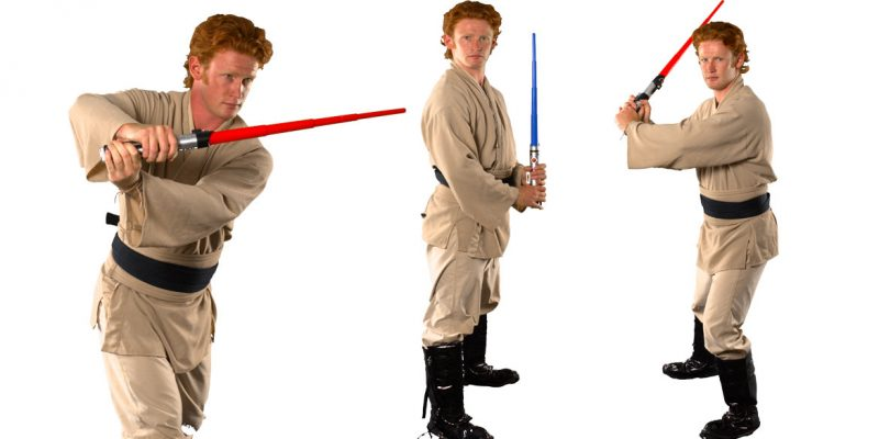 Image of Luke Skywalker kids Star Wars party entertainer in Sydney from Superheroes Inc