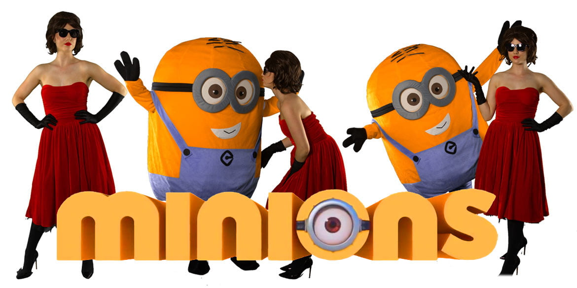 image of Minions Kids party entertainers Sydney Superheroes Inc
