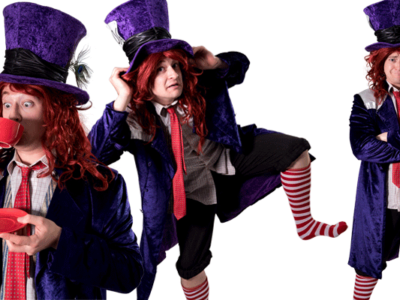 Mad hatter Alice in wonderland Princess themed party entertainment