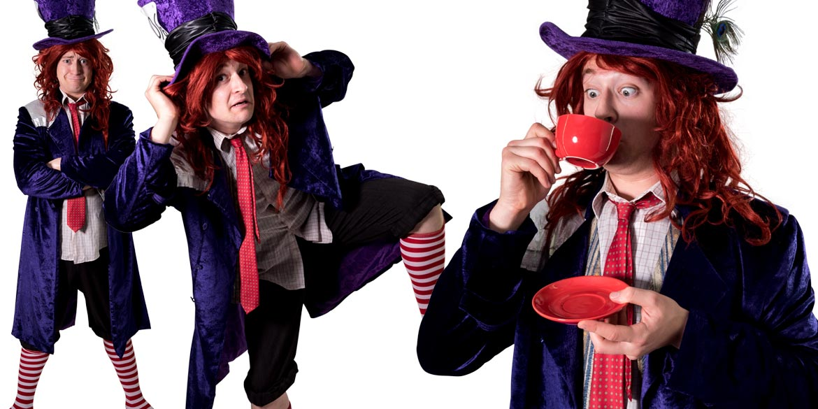 Image of Mad Hatter kids party entertainer in Sydney from Superheroes Inc