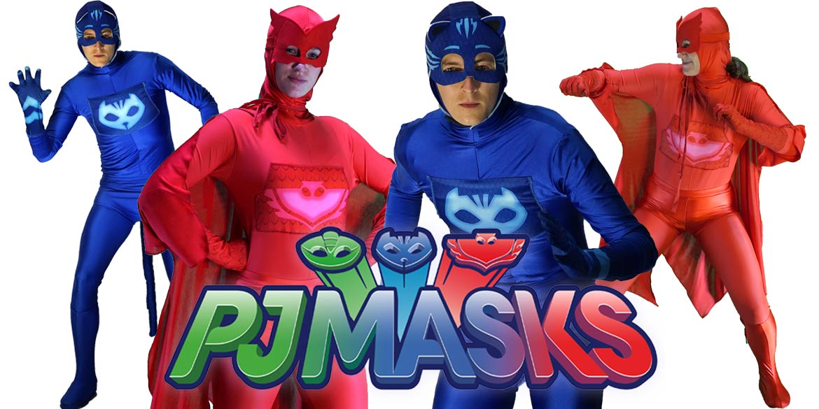 PJ Masks birthday characters Catboy and Owlette