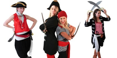 Image of pirate girl party entertainer in Sydney from Superheroes Inc.