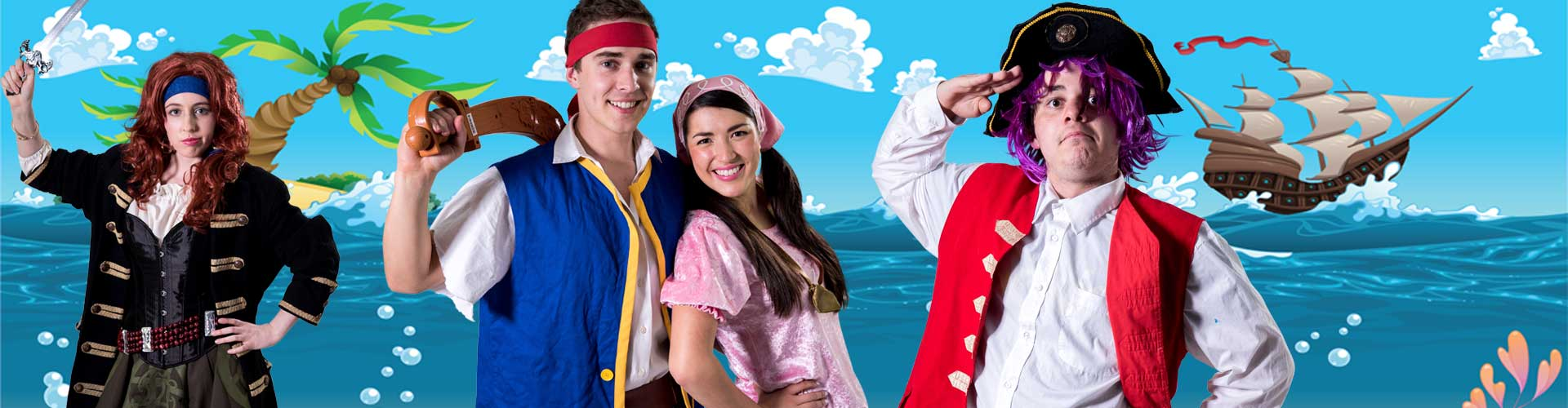 Image of pirate party entertainers in Sydney from Superheroes Inc.