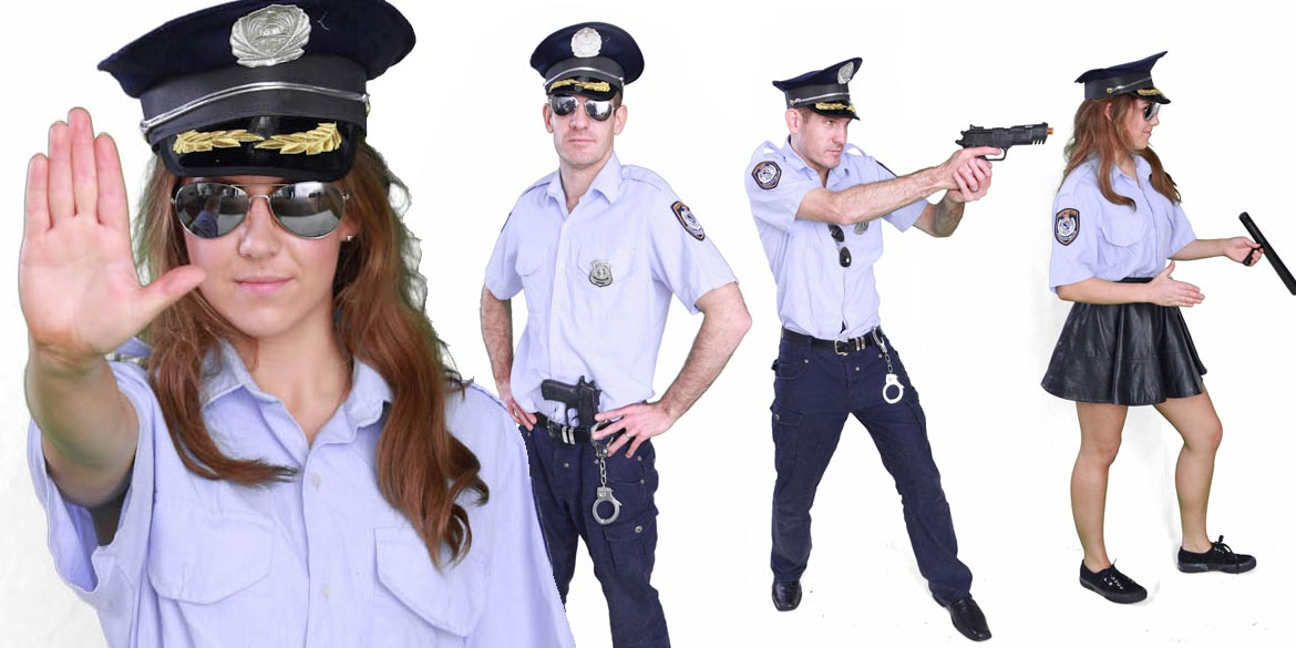 Image of police officer kids party entertainer in Sydney from Superheroes Inc