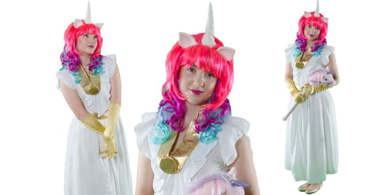 Image of Princess Celestia kids party entertainer at My Little Pony party