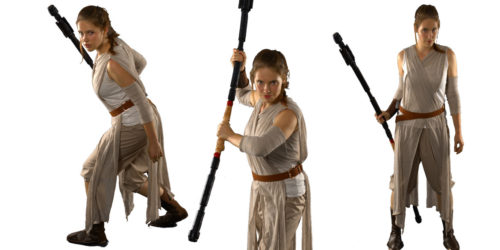 Image of Rey Star Wars kids party entertainer in Sydney from Superheroes Inc