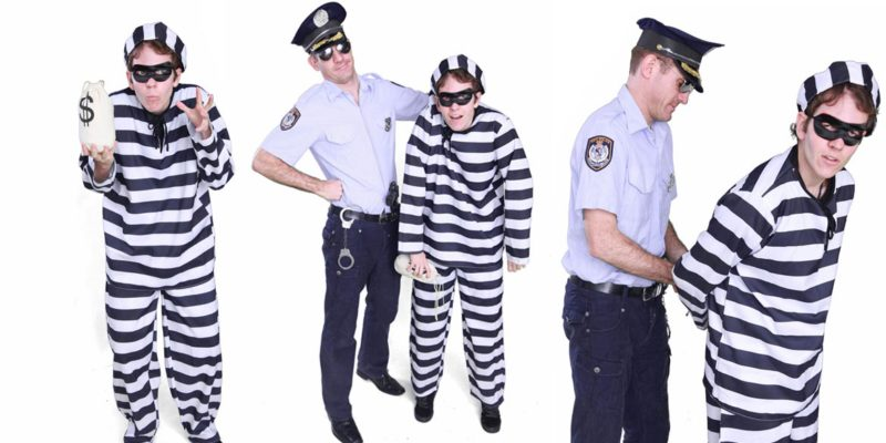 Image of cops and robbers kids party entertainers in Sydney from Superheroes Inc