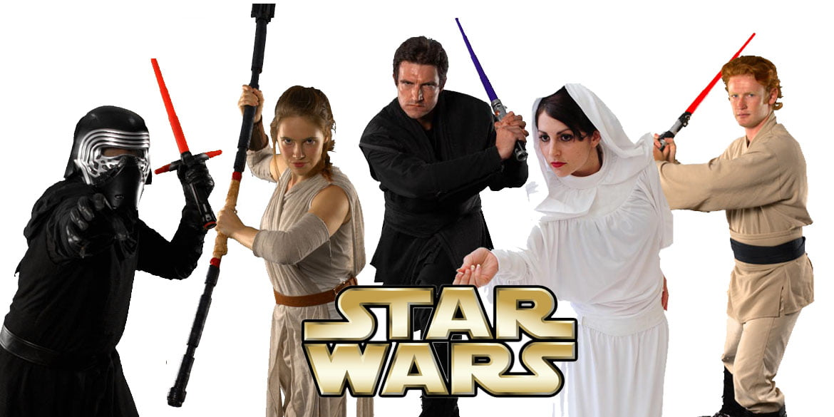 star wars themed jedi kids birthday party entertainment characters