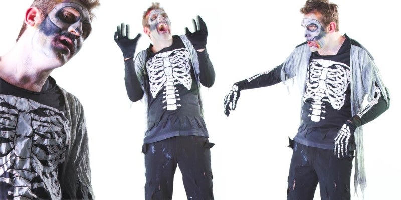 Image of skeleton halloween party entertainer