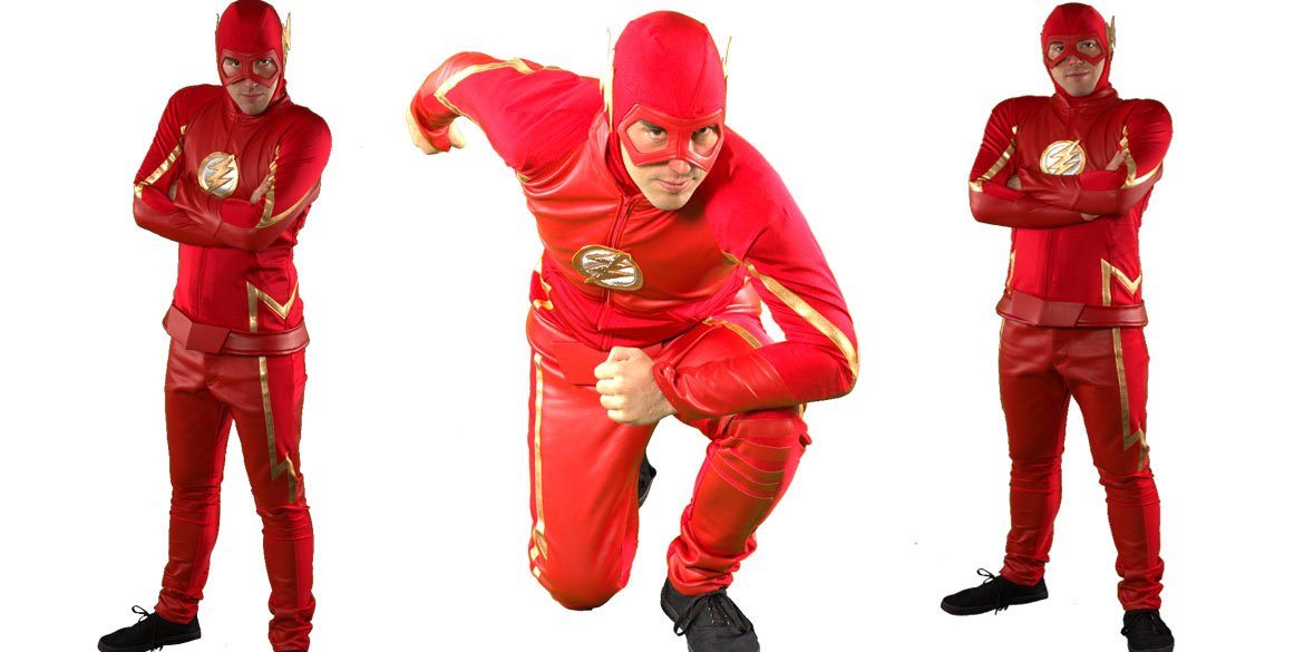 Image of The Flash birthday party entertainer in Sydney from Superheroes Inc