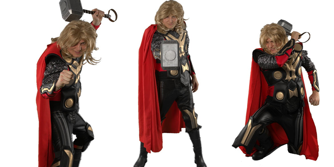 Picture of Thor birthday party character in Sydney Party Entertainer for Kids