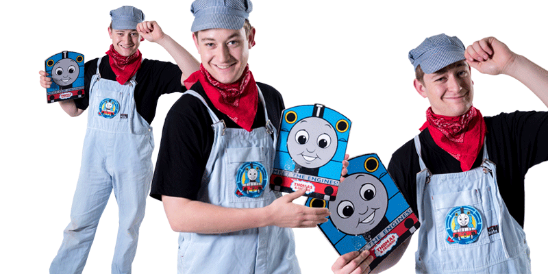 Thomas the Tank engine birthday party entertainer at party in Sydney