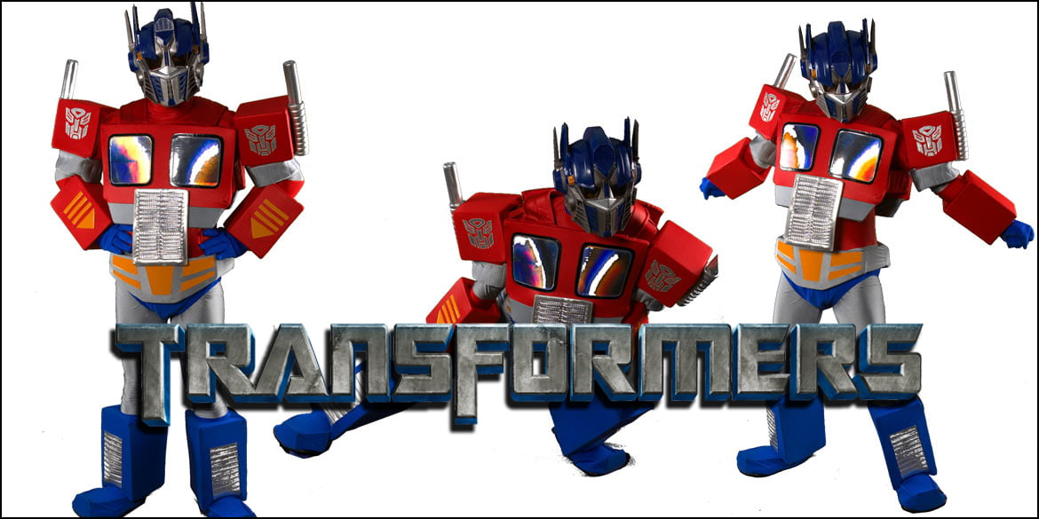 Picture of the Transformers Optimus Prime birthday party character in Sydney