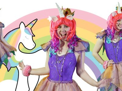Unicorn Rainbow Kids party entertainers Sydney Superheroes Inc