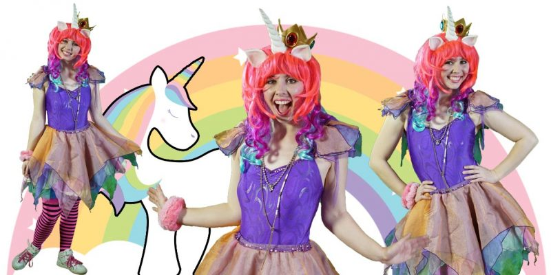 Unicorn Rainbow Kids party entertainers Sydney Superheroes Inc