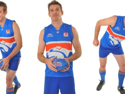 Image of AFL sports party entertainer in Sydney from Superheroes Inc