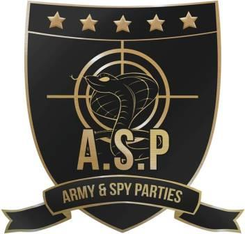 Army and Spy Parties kids party entertainment logo