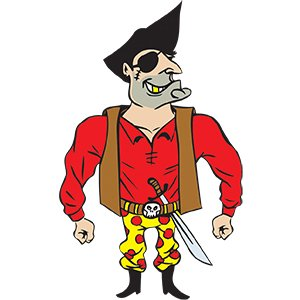 picture of Kids Party Entertainment Pirate Cartoon character