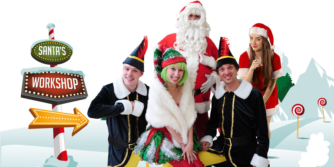 Christmas themed party entertainment in Sydney Corporate events Superheroes Inc