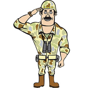 picture of Kids Party Entertainment Commando Cartoon character