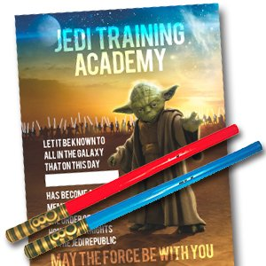 star wars themed jedi kids birthday party entertainment gift pack