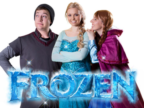 Frozen themed birthday party characters Elsa Anna Kristoff