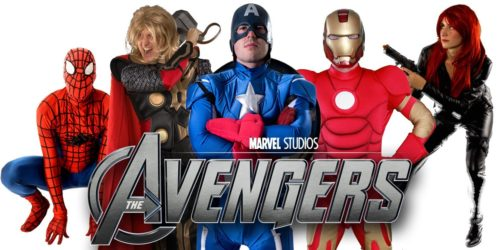 Image of Avengers kids party entertainers in Sydney from Superheroes Inc