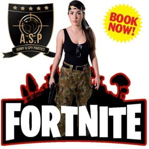 Image of Fortnite Combat Crew kids party entertainer in Sydney from Superheroes Inc