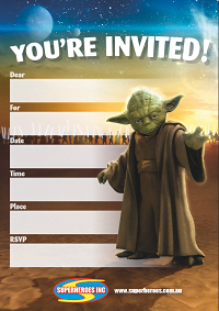Image of free downloadable star wars birthday party invitation