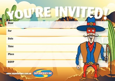 Free Cowboy themed party invitation