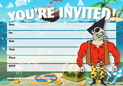 Free download Pirate birthday party invitation