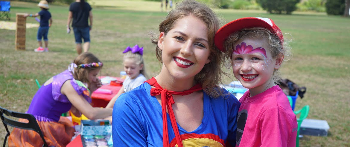 Image of Supergirl kids party entertainer in Sydney from Superheroes Inc