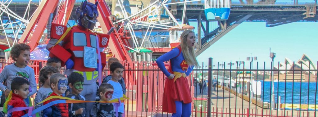 corporate entertainers sydney Superheroes Inc kids entertainment