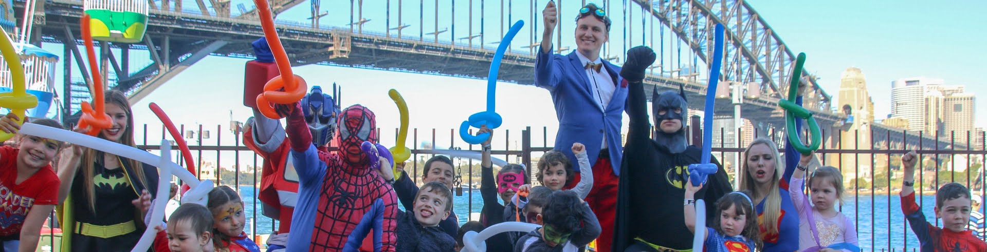 Image of kids corporate entertainers Sydney Superheroes Inc