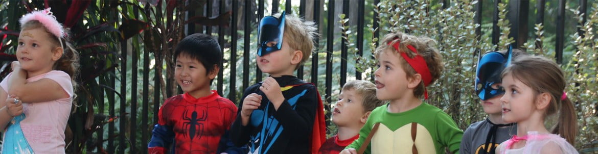 Image of children at party in Sydney with kids party entertainment from Superheroes Inc